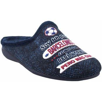 Zapatos Hombre Pantuflas Gema Garcia Ir por casa caballero  7105-40 azul Azul