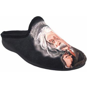 Zapatos Hombre Pantuflas Gema Garcia Ir por casa caballero  7105-27 negro Negro