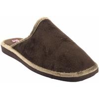Zapatos Hombre Pantuflas Gema Garcia Ir por casa caballero  2306-1 marron Marrón