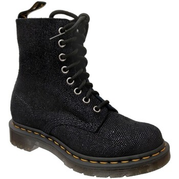 Zapatos Mujer Botas de caña baja Dr Martens 1460 pascal glitter ray Brillo negro