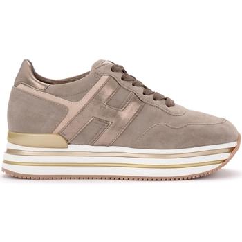 Zapatos Mujer Zapatillas bajas Hogan Zapatilla Midi H222 de suede beige Beige