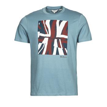 textil Hombre Camisetas manga corta Ben Sherman HALF TONE FLEG TEE Azul