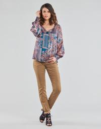 textil Mujer Pantalones con 5 bolsillos Cream LOTTE PRINTED Beige