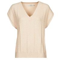 textil Mujer Tops / Blusas Cream MAHIMA SLEEVELESS Beige