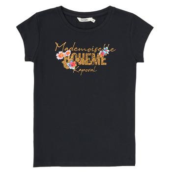 textil Niño Camisetas manga corta Kaporal ELISA Negro