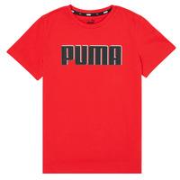 textil Niño Camisetas manga corta Puma ALPHA GRAF TEE Rojo