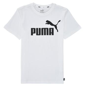 textil Niño Camisetas manga corta Puma ESSENTIAL LOGO TEE Blanco