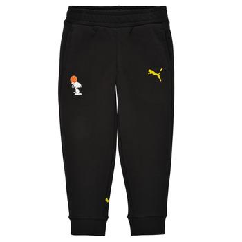 textil Niño Pantalones de chándal Puma SNOOPY PEANUTS SWEAT PANT Negro