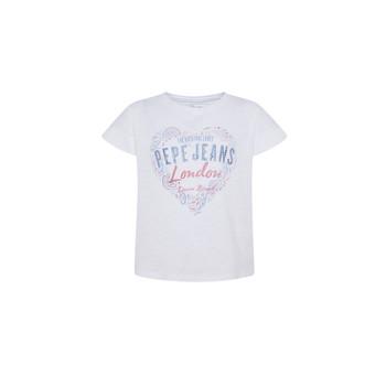 textil Niña Camisetas manga corta Pepe jeans PIPER Blanco