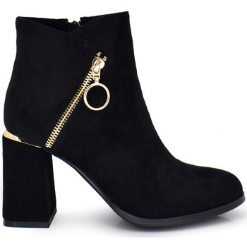 Zapatos Mujer Botines Exé Shoes BOTIN TIPO ANTE CREMALLERA BLACK XJ1130-CR171 Color Negro