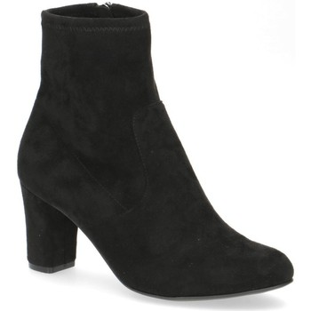 Zapatos Mujer Botines Caprice Botines Tacones Bajos Negro Black
