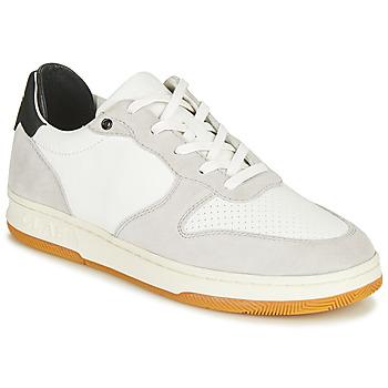 Zapatos Zapatillas bajas Clae MALONE Blanco / Gris