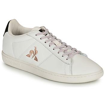 Zapatos Mujer Zapatillas bajas Le Coq Sportif COURTSET Blanco / Negro
