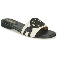 Zapatos Mujer Zuecos (Mules) Lauren Ralph Lauren ALEGRA Negro / Beige