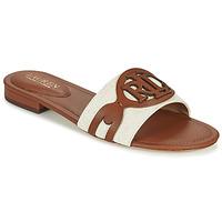 Zapatos Mujer Zuecos (Mules) Lauren Ralph Lauren ALEGRA Cognac / Beige