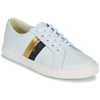 Zapatos Mujer Zapatillas bajas Lauren Ralph Lauren JANSON II Blanco / Oro