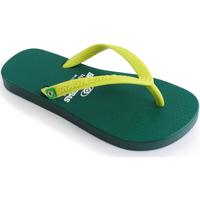 Zapatos Niños Chanclas Brasileras Chancla ®,Clasica Combi Brasil NL KID Green/Yellow