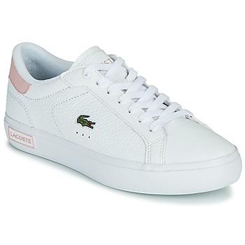 Zapatos Mujer Zapatillas bajas Lacoste POWERCOURT 0721 2 SFA Blanco / Rosa