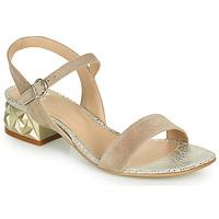 Zapatos Mujer Sandalias Perlato 11817-CAM-FREJE-STONE Beige / Oro