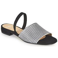 Zapatos Mujer Sandalias Perlato 11117-YORK-ARGENT-CAM-NOIR Negro / Plateado