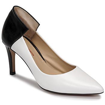 Zapatos Mujer Zapatos de tacón Perlato 11764-VENUS-BLANC-JAMAICA-NOIR Blanco / Negro