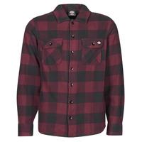 textil Hombre Camisas manga larga Dickies NEW SACRAMENTO SHIRT MAROON Burdeo / Negro