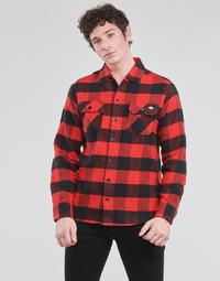 textil Hombre Camisas manga larga Dickies NEW SACRAMENTO SHIRT RED Rojo / Negro
