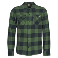 textil Hombre Camisas manga larga Dickies NEW SACRAMENTO SHIRT PINE GREEN Kaki / Negro