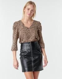 textil Mujer Tops / Blusas Moony Mood NOULIETTE Beige / Marrón
