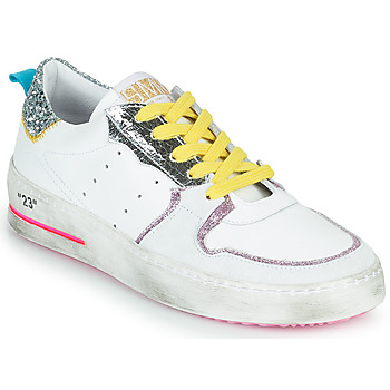 Zapatos Mujer Zapatillas bajas Semerdjian SONA Blanco / Plata