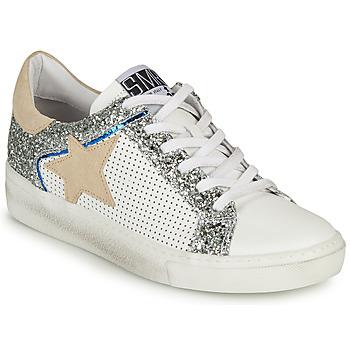 Zapatos Mujer Zapatillas bajas Semerdjian CARLA Blanco / Plata / Beige