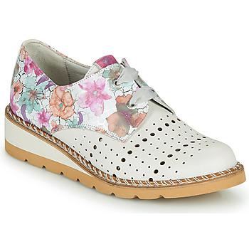 Zapatos Mujer Derbie Dorking TETRIS Blanco / Multicolor