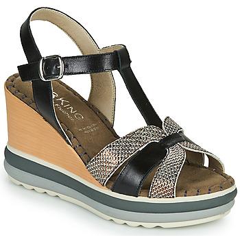Zapatos Mujer Sandalias Dorking TOTEM Negro / Bronce