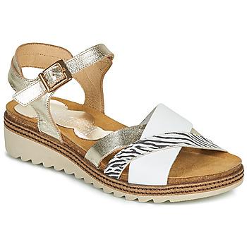 Zapatos Mujer Sandalias Dorking ESPE Blanco / Plata