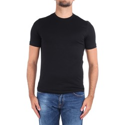 textil Hombre Camisetas manga corta Cruciani CUJOSB G30 Negro