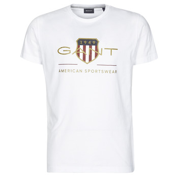 textil Hombre Camisetas manga corta Gant ARCHIVE SHIELD Blanco