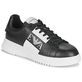 Zapatos Hombre Zapatillas bajas Emporio Armani MALTA Negro / Blanco
