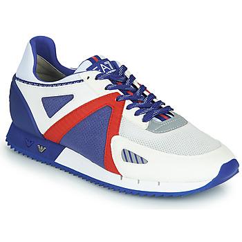 Zapatos Hombre Zapatillas bajas Emporio Armani EA7 SAPONI Blanco / Azul / Rojo