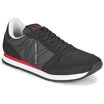 Zapatos Hombre Zapatillas bajas Armani Exchange ESPACIA Negro / Rojo