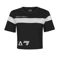 textil Mujer Camisetas manga corta Emporio Armani EA7 3KTT05-TJ9ZZ-1200 Negro / Blanco