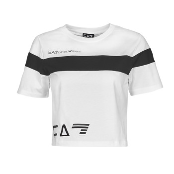 textil Mujer Camisetas manga corta Emporio Armani EA7 3KTT05-TJ9ZZ-1100 Blanco / Negro