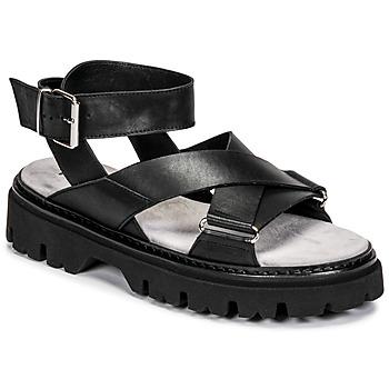 Zapatos Mujer Sandalias Fru.it 6757-100-NERO Negro