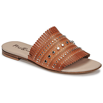 Zapatos Mujer Zuecos (Mules) Fru.it 6765-100-CUOIO Marrón