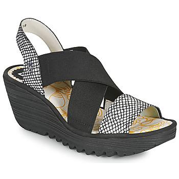 Zapatos Mujer Sandalias Fly London YAJI Negro / Blanco
