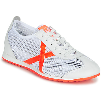 Zapatos Mujer Zapatillas bajas Munich OSAKA 456 Blanco / Naranja