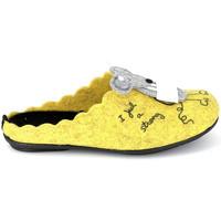 Zapatos Pantuflas La Maison De L'espadrille Mule Souris Jaune Amarillo