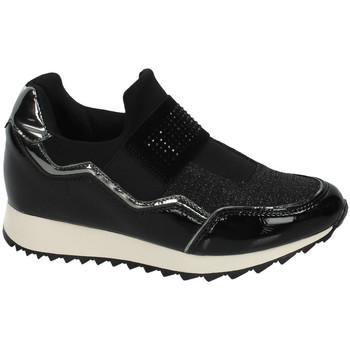 Zapatos Mujer Slip on B&w Rejilla brillo NEGRO