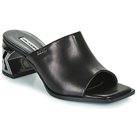 Zapatos Mujer Zuecos (Mules) Karl Lagerfeld K-BLOK SQUARE TOE MULE Negro