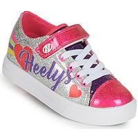 Zapatos Niña Zapatos con ruedas Heelys SNAZZY X2 Plata / Multicolor