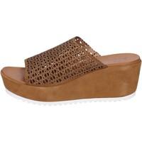 Zapatos Mujer Sandalias Femme Plus Sandalias Gamuza marrón